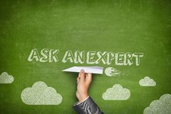 Ask an expert concept Royalty Free Stock Photography
