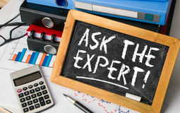 Ask the expert concept Royalty Free Stock Photo