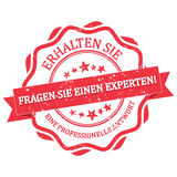 Ask an expert and Get a professional answer  German Royalty Free Stock Images