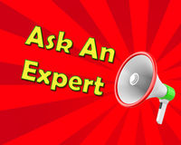 Ask an Expert. Megaphone  business concept with text Ask an Expert, llustration 3d rendering Stock Images