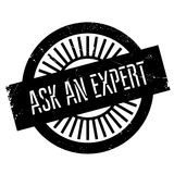Ask an expert stamp. Grunge design with dust scratches. Effects can be easily removed for a clean, crisp look. Color is easily changed Stock Photos