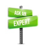 Ask an expert street sign illustration design Stock Image