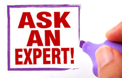 Ask an expert Royalty Free Stock Images