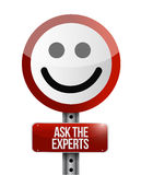 Ask the experts road face illustration design Stock Images