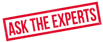 Ask The Experts rubber stamp Royalty Free Stock Photography