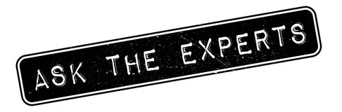 Ask The Experts rubber stamp Stock Photo