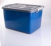 ask för ask- eller plast-lagringsbehållare på bakgrund Royaltyfri Foto