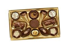 Ask för chokladklassikergåva Royaltyfri Bild