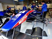 Ask för formel 2 i Monza racespår Arkivbild