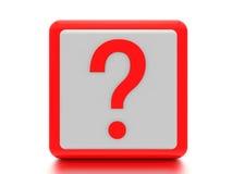 Ask för frågefläck. Arkivbild