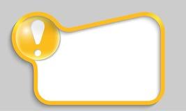 Ask för gul text Royaltyfri Foto