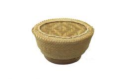 Ask för klibbig rice Arkivfoto