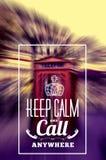 Ask för uppehälleappelltelefon Royaltyfria Bilder