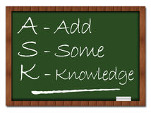 Ask Formula Classroom Board Stock Photos