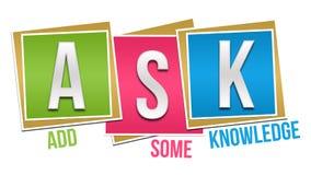 Ask Formula Colorful Blocks Royalty Free Stock Image