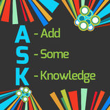 Ask Formula Dark Colorful Elements Royalty Free Stock Photography
