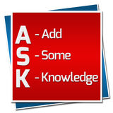 Ask Formula Red Blue Squares Royalty Free Stock Photos