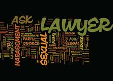 Ask A Lawyer Word Cloud Concept Royalty Free Stock Image