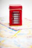 Ask London för offentlig telefon Royaltyfri Fotografi