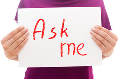 Ask me! Stock Photography