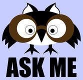 Ask Me. Vector Info Sign. Stock Photo