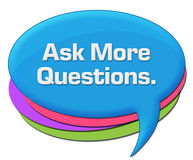 Ask More Questions Colorful Rounded Comment Symbol Royalty Free Stock Image