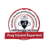 Ask our experts and get a professional answer - German language stock illustration