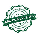 Ask our experts - grunge stamp. Stock Images
