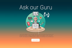 Composite image of ask our guru text with icons Stock Image