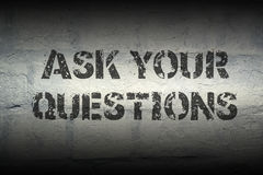 ASK QUESTIONS GR Royalty Free Stock Photography
