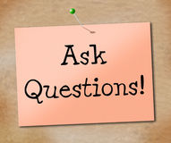 Ask Questions Means Faqs Information And Assistance Royalty Free Stock Photography