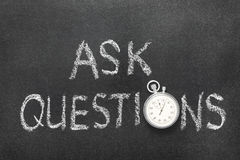 Ask questions watch Royalty Free Stock Photos