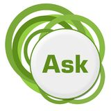Ask Random Green Rings Stock Images