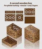 ask snidit trä För plottarklipp - ta bort 1 och 2 lager vektor illustrationer