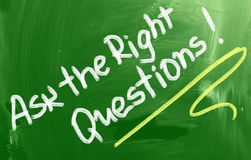 Ask The Right Questions Concept Royalty Free Stock Photos