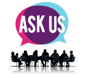 Ask us Contact Information Assistance Advice Concept Royalty Free Stock Photography