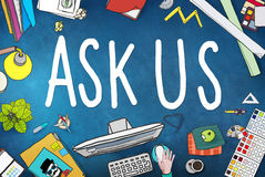 Ask Us Help Support Response Information Concept Stock Photography