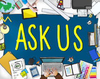 Ask Us Help Support Response Information Concept Royalty Free Stock Photos