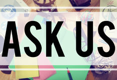 Ask Us Inquiries Questions Concerns Contact Concept Stock Images