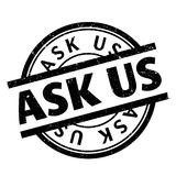 Ask Us rubber stamp Stock Image