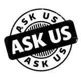 Ask Us rubber stamp Stock Photography