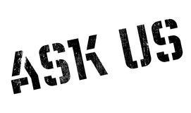 Ask Us rubber stamp Royalty Free Stock Photo