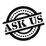 Ask Us rubber stamp Stock Photo