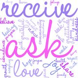 Ask Word Cloud. On a white background Royalty Free Stock Image
