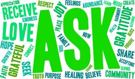 Ask Word Cloud. On a white background Royalty Free Stock Images