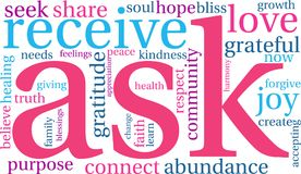Ask Word Cloud. On a white background Royalty Free Stock Photography