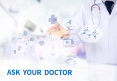ASK YOUR DOCTOR Stock Photo