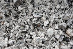 Aska och bränt kol Royaltyfri Fotografi