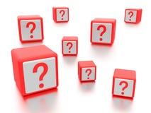 Askar för frågefläck. Arkivbild