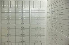 Askar för säker insättning Arkivbild